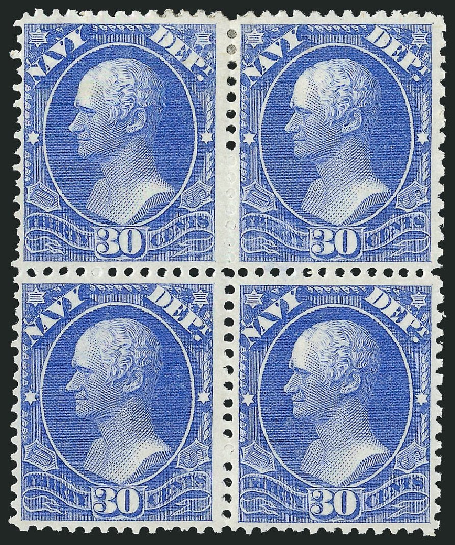 Costs of US Stamps Scott Cat. O44: 1873 30c Navy Official. Robert Siegel Auction Galleries, Nov 2014, Sale 1085, Lot 4072