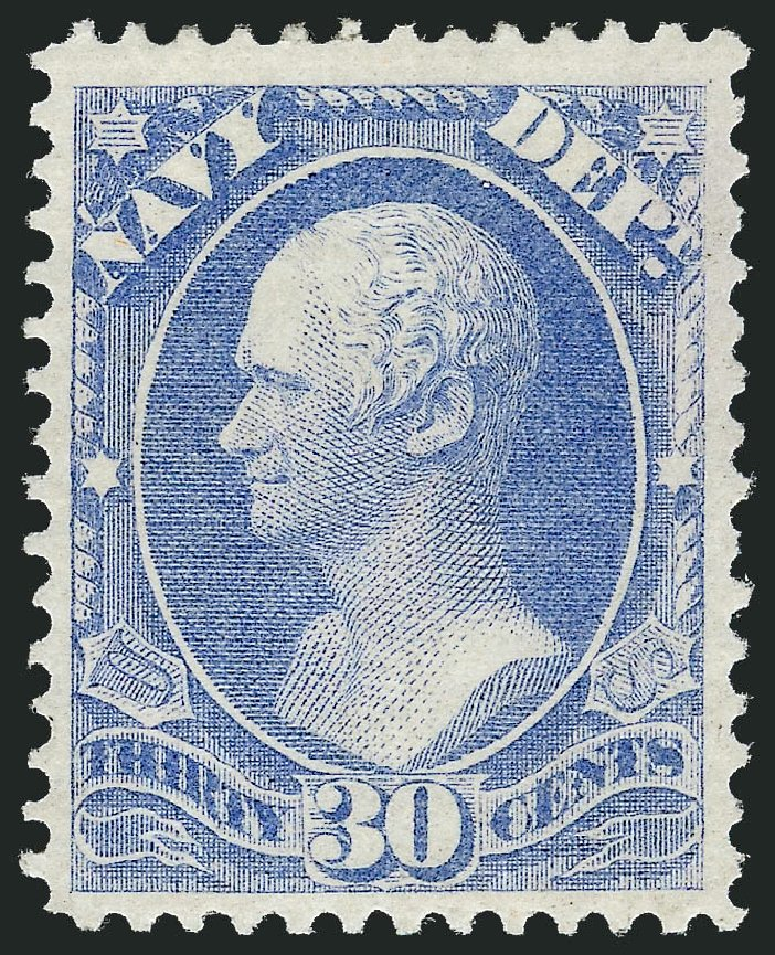 Cost of US Stamp Scott O44: 1873 30c Navy Official. Robert Siegel Auction Galleries, Nov 2013, Sale 1061, Lot 4163