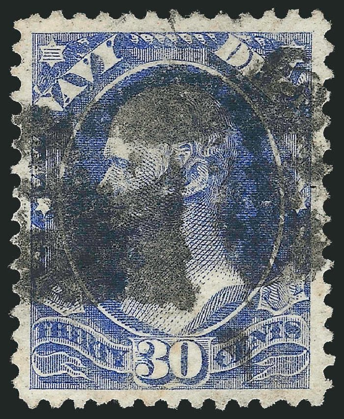 Value of US Stamp Scott Catalog # O44: 30c 1873 Navy Official. Robert Siegel Auction Galleries, Nov 2014, Sale 1085, Lot 4073