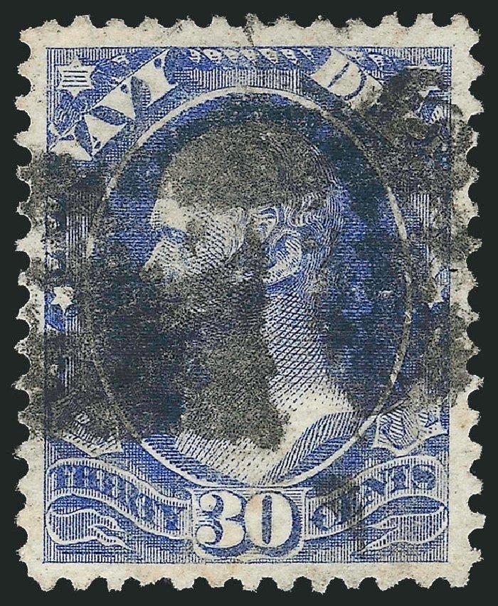 Value of US Stamp Scott Catalog # O44: 30c 1873 Navy Official. Robert Siegel Auction Galleries, Nov 2014, Sale 1085, Lot 4073