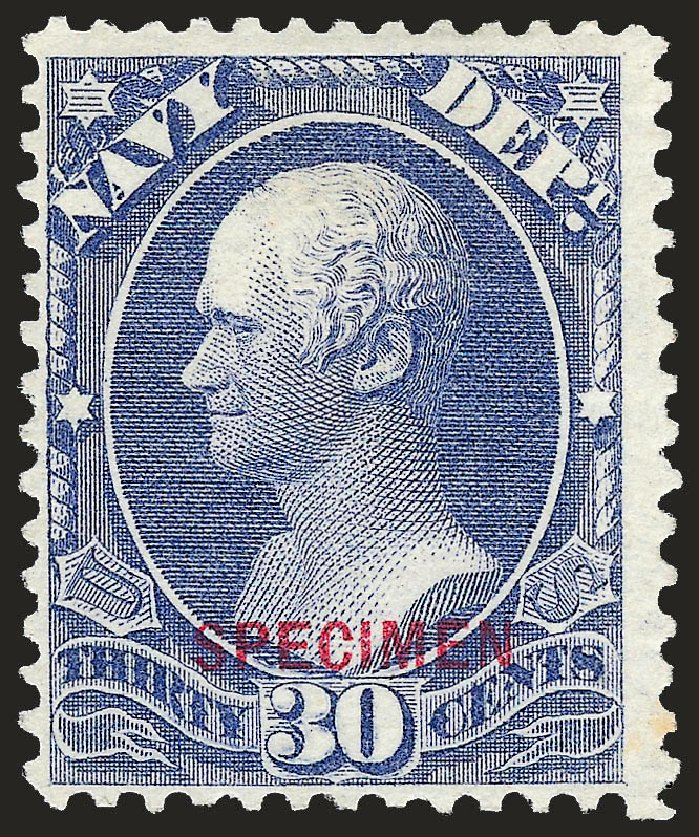 US Stamps Price Scott Catalogue O44 - 30c 1873 Navy Official. Robert Siegel Auction Galleries, Sep 2008, Sale 962, Lot 3033
