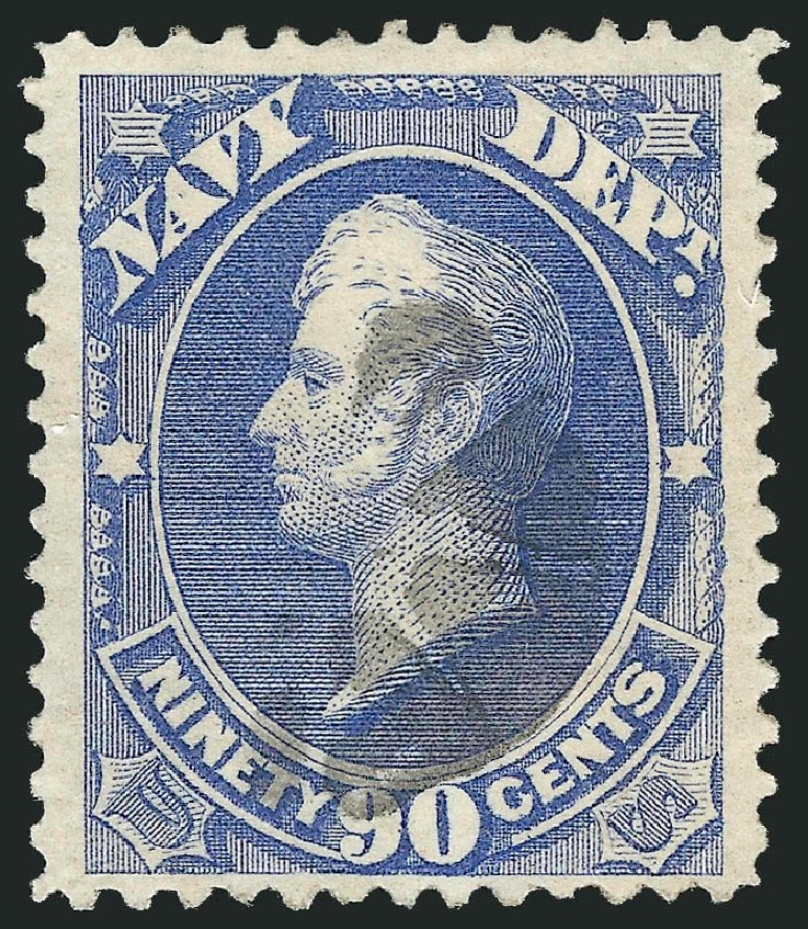 Prices of US Stamp Scott Catalogue #O45 - 1873 90c Navy Official. Robert Siegel Auction Galleries, Dec 2013, Sale 1062, Lot 837
