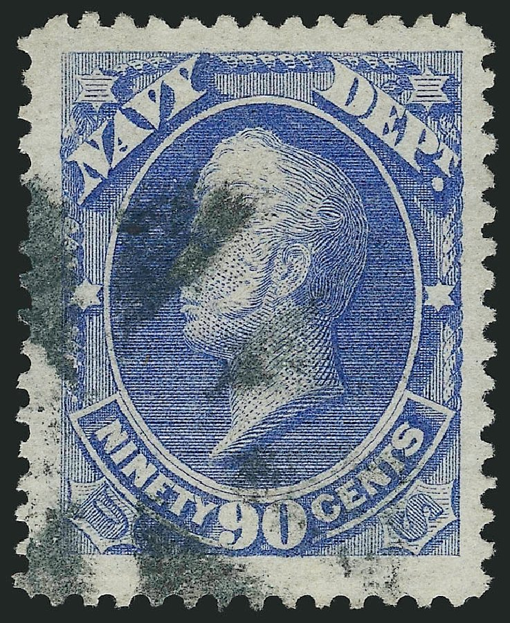 Prices of US Stamp Scott Cat. #O45: 1873 90c Navy Official. Robert Siegel Auction Galleries, Mar 2014, Sale 1067, Lot 1717