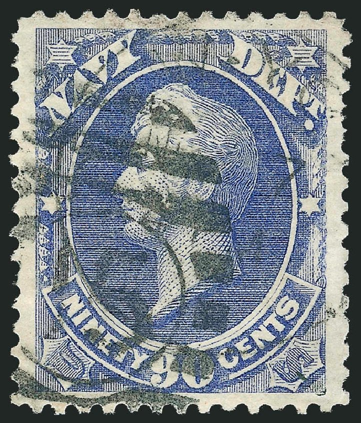 Prices of US Stamps Scott Catalogue # O45: 90c 1873 Navy Official. Robert Siegel Auction Galleries, Oct 2012, Sale 1032, Lot 3671