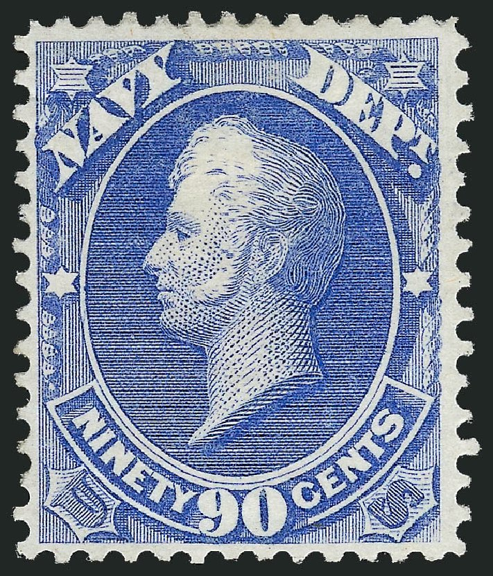 Prices of US Stamp Scott Cat. #O45 - 90c 1873 Navy Official. Robert Siegel Auction Galleries, Oct 2012, Sale 1033, Lot 4311