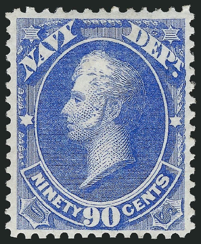 US Stamps Value Scott O45: 1873 90c Navy Official. Robert Siegel Auction Galleries, Oct 2011, Sale 1014, Lot 2354