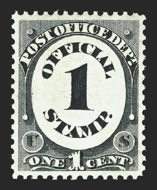 US Stamp Values Scott #O47 - 1c 1873 Post Office Official. Spink Shreves Galleries, Mar 2013, Sale 142, Lot 454
