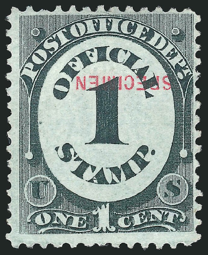 US Stamp Value Scott Catalogue #O47 - 1c 1873 Post Office Official. Robert Siegel Auction Galleries, Mar 2015, Sale 1095, Lot 602