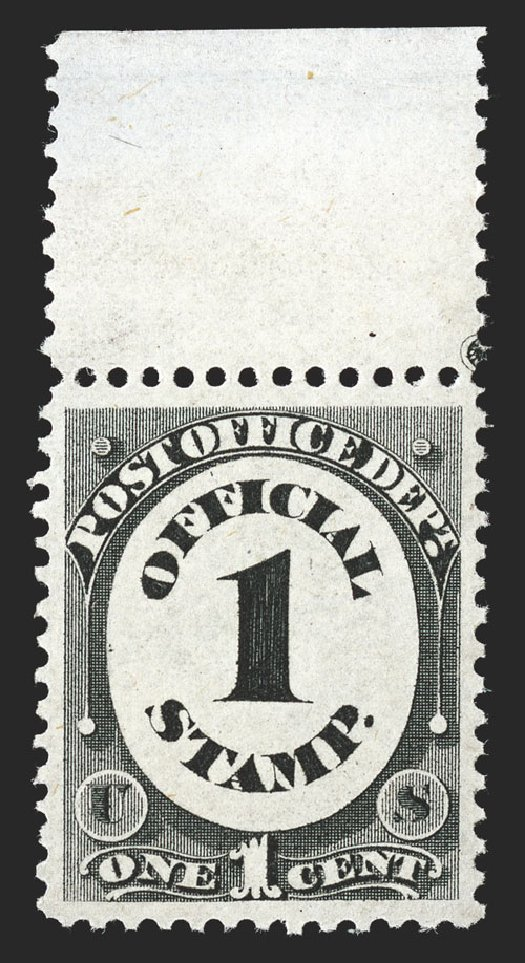 Values of US Stamp Scott Catalogue O47: 1873 1c Post Office Official. Spink Shreves Galleries, Nov 2012, Sale 141, Lot 232