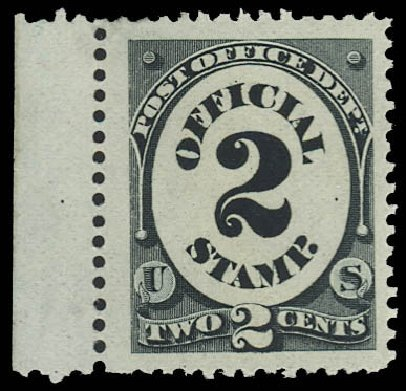Price of US Stamps Scott Cat. O48 - 2c 1873 Post Office Official. Daniel Kelleher Auctions, Oct 2012, Sale 632, Lot 1567