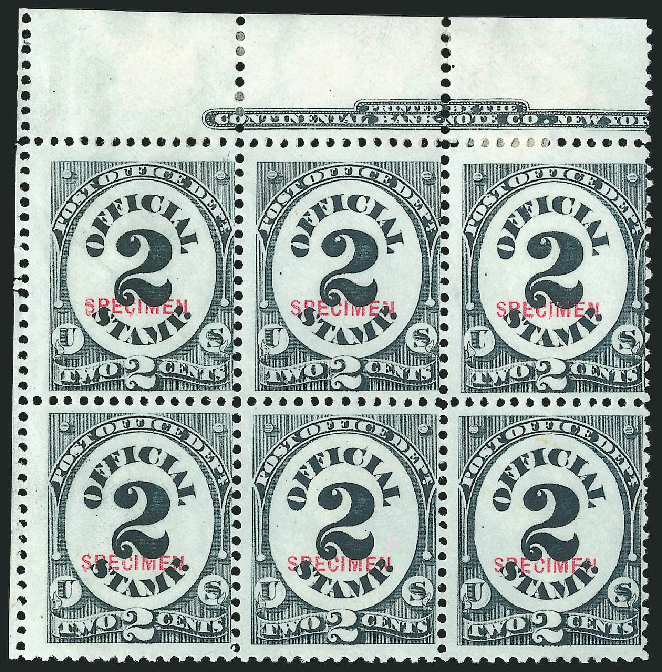 Costs of US Stamps Scott Catalogue #O48 - 2c 1873 Post Office Official. Robert Siegel Auction Galleries, Mar 2015, Sale 1095, Lot 599