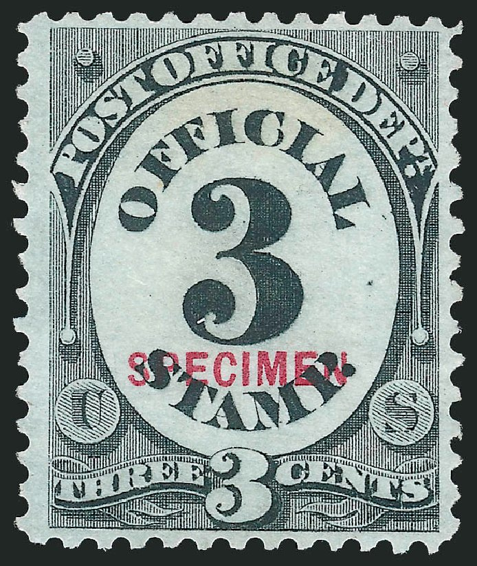 US Stamps Prices Scott # O49 - 3c 1873 Post Office Official. Robert Siegel Auction Galleries, Mar 2015, Sale 1095, Lot 588