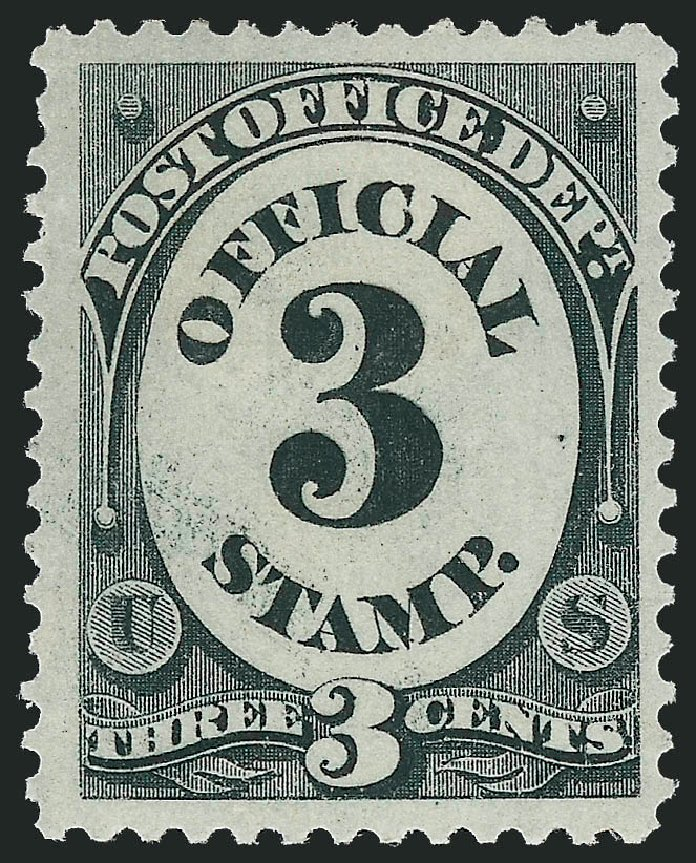 Cost of US Stamp Scott Catalog O49: 1873 3c Post Office Official. Robert Siegel Auction Galleries, Jun 2012, Sale 1026, Lot 1544
