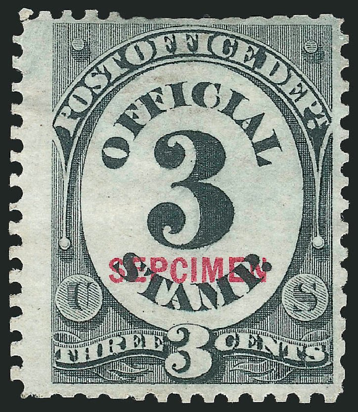 Value of US Stamps Scott Catalogue #O49: 3c 1873 Post Office Official. Robert Siegel Auction Galleries, Mar 2015, Sale 1095, Lot 606