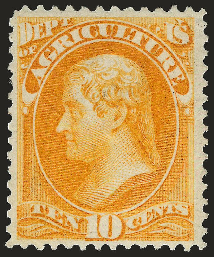 Price of US Stamp Scott Cat. O5: 10c 1873 Agriculture Official. Robert Siegel Auction Galleries, Apr 2010, Sale 984, Lot 1150