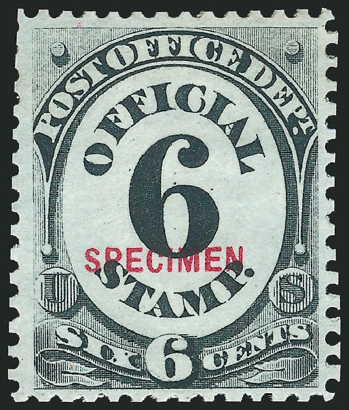 US Stamps Value Scott Catalog # O50: 6c 1873 Post Office Official. Robert Siegel Auction Galleries, Mar 2015, Sale 1095, Lot 589