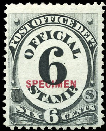 US Stamp Price Scott O50 - 1873 6c Post Office Official. Matthew Bennett International, Sep 2011, Sale 338, Lot 2051