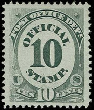 US Stamp Prices Scott Cat. # O51: 1873 10c Post Office Official. H.R. Harmer, Jun 2015, Sale 3007, Lot 3489