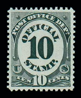 US Stamps Price Scott Cat. #O51 - 10c 1873 Post Office Official. Matthew Bennett International, Jun 2007, Sale 319, Lot 1684