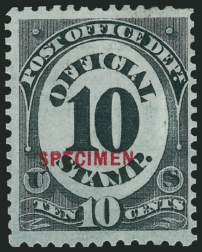 US Stamp Price Scott Cat. # O51: 1873 10c Post Office Official. Robert Siegel Auction Galleries, Oct 2014, Sale 1082, Lot 514
