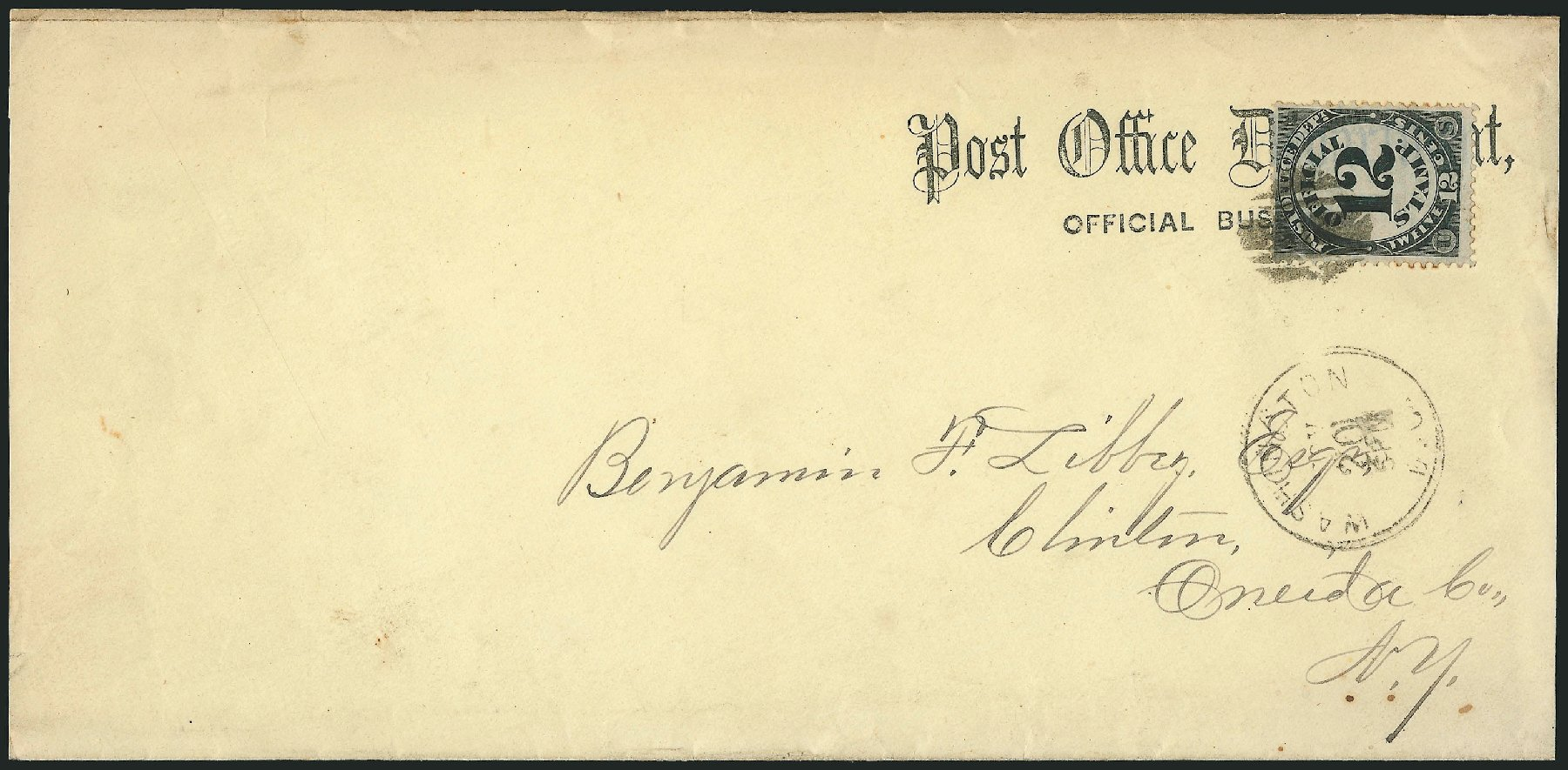 US Stamps Value Scott # O52: 1873 12c Post Office Official. Robert Siegel Auction Galleries, Nov 2014, Sale 1085, Lot 4087