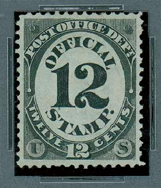 Values of US Stamp Scott Catalogue # O52 - 12c 1873 Post Office Official. Matthew Bennett International, Oct 2007, Sale 322, Lot 2315