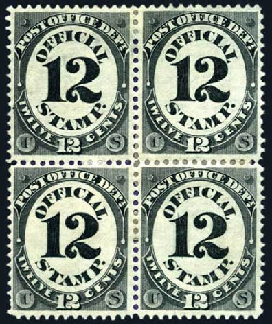 US Stamps Price Scott O52 - 1873 12c Post Office Official. Harmer-Schau Auction Galleries, Aug 2011, Sale 90, Lot 1732
