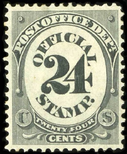 Prices of US Stamps Scott Catalogue O54: 24c 1873 Post Office Official. Spink Shreves Galleries, Jul 2015, Sale 151, Lot 394