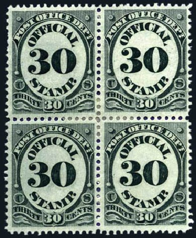 US Stamp Value Scott Catalog O55 - 1873 30c Post Office Official. Harmer-Schau Auction Galleries, Aug 2011, Sale 90, Lot 1735