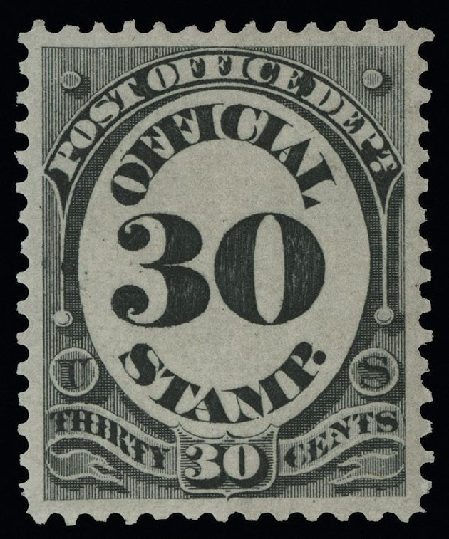 US Stamp Price Scott Cat. # O55: 30c 1873 Post Office Official. Spink Shreves Galleries, Aug 2013, Sale 144, Lot 355