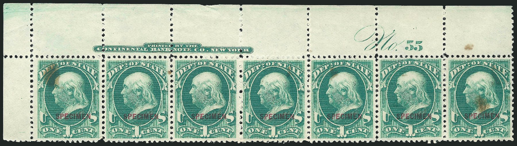 Costs of US Stamp Scott Cat. # O57: 1c 1873 State Official. Robert Siegel Auction Galleries, Mar 2015, Sale 1095, Lot 669