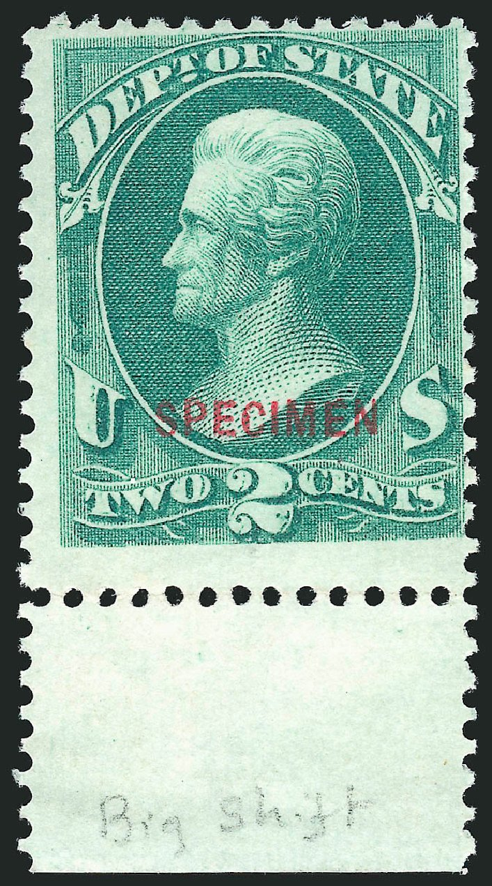 Values of US Stamps Scott Catalogue # O57: 1c 1873 State Official. Robert Siegel Auction Galleries, Mar 2015, Sale 1095, Lot 610
