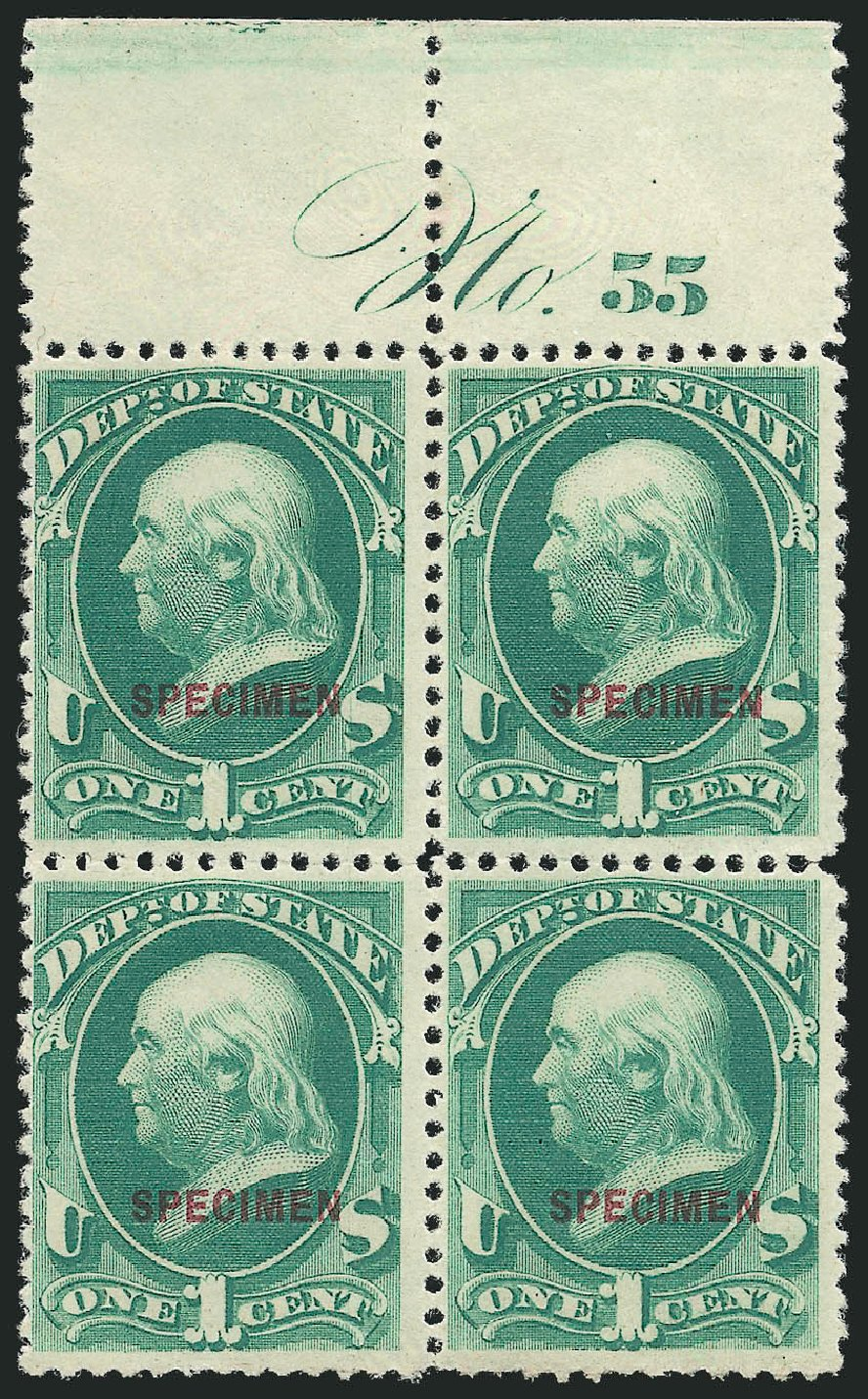US Stamp Price Scott Catalogue # O57 - 1873 1c State Official. Robert Siegel Auction Galleries, Mar 2015, Sale 1095, Lot 670