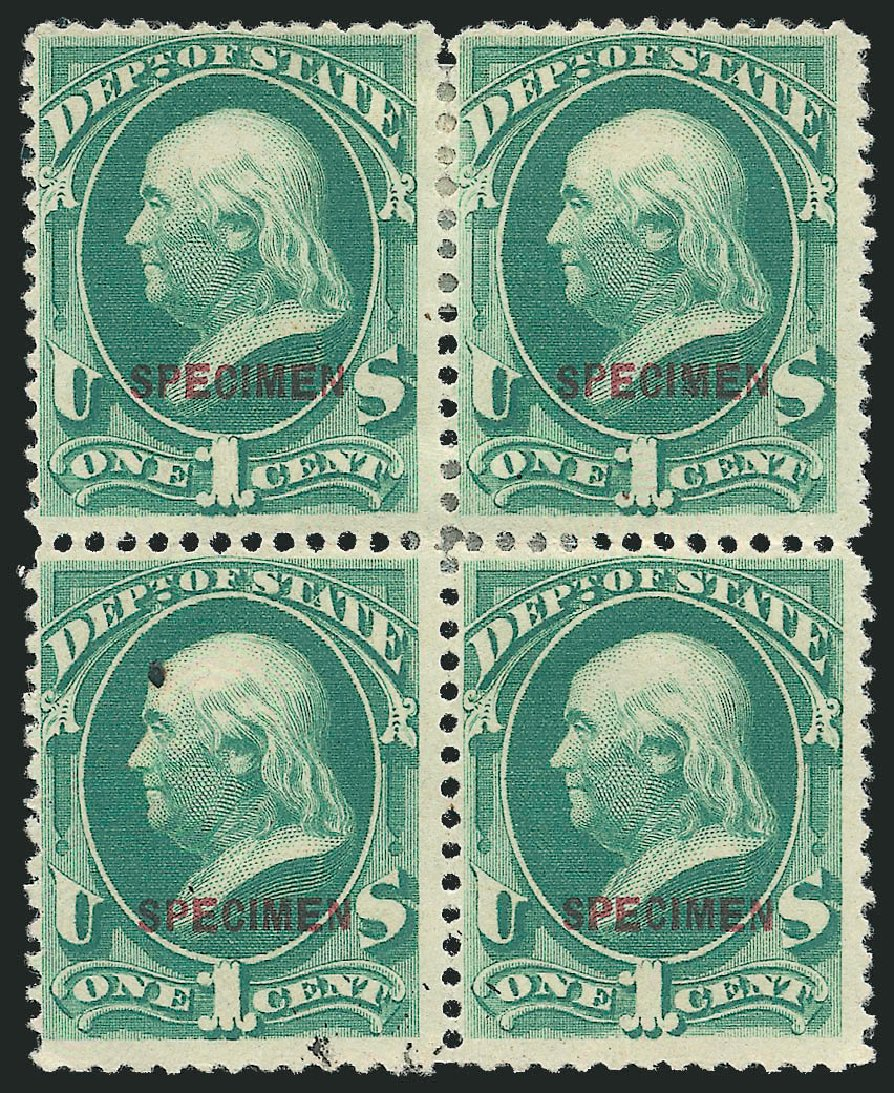 Prices of US Stamp Scott # O57: 1c 1873 State Official. Robert Siegel Auction Galleries, Mar 2015, Sale 1095, Lot 671