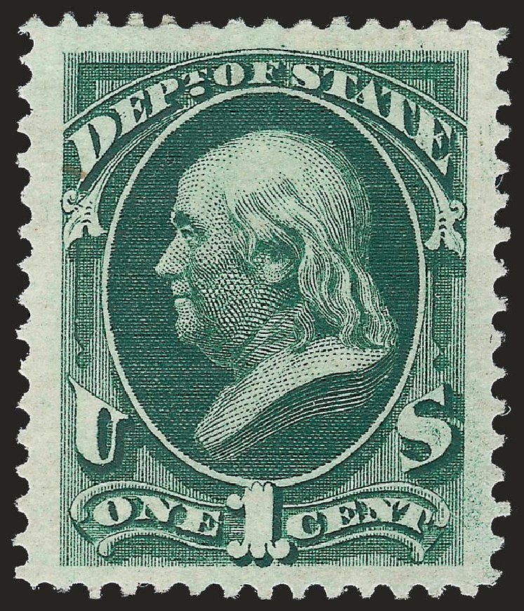 US Stamp Price Scott Catalog # O57: 1873 1c State Official. Robert Siegel Auction Galleries, Sep 2009, Sale 976, Lot 2331