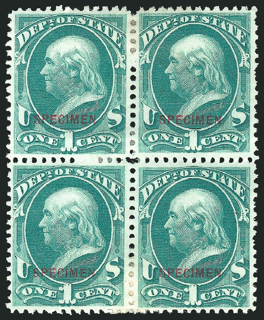US Stamps Prices Scott Catalogue #O57: 1873 1c State Official. Robert Siegel Auction Galleries, Mar 2015, Sale 1095, Lot 614