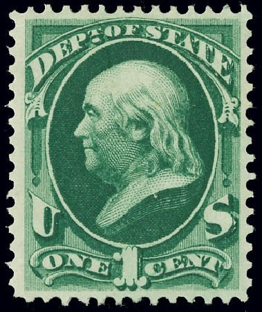 Price of US Stamps Scott Catalog # O57: 1873 1c State Official. Matthew Bennett International, Jun 2008, Sale 328, Lot 1235