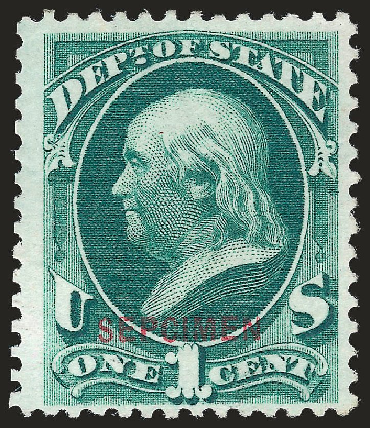 Costs of US Stamp Scott #O57 - 1c 1873 State Official. Robert Siegel Auction Galleries, Jun 2010, Sale 989, Lot 205