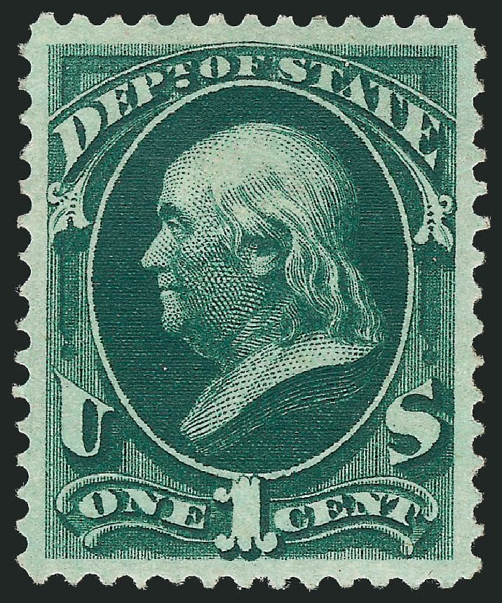 Costs of US Stamps Scott #O57 - 1c 1873 State Official. Robert Siegel Auction Galleries, Oct 2010, Sale 997, Lot 6272