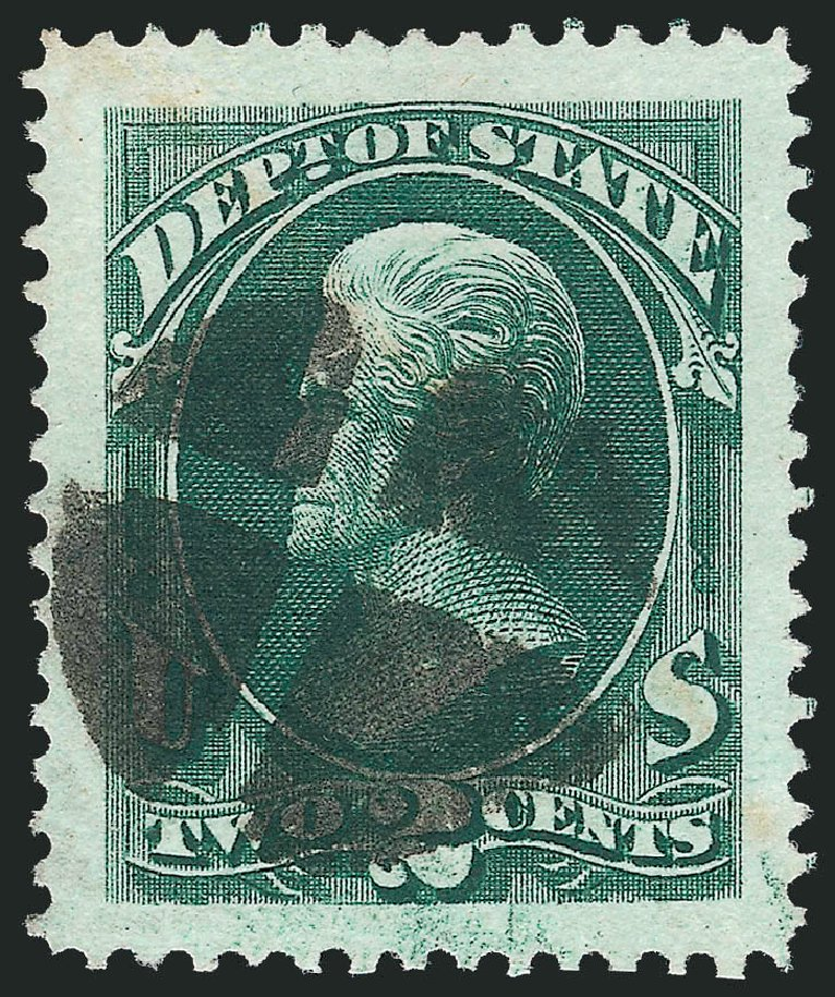 US Stamp Price Scott #O58 - 1873 2c State Official. Robert Siegel Auction Galleries, Oct 2012, Sale 1032, Lot 3677