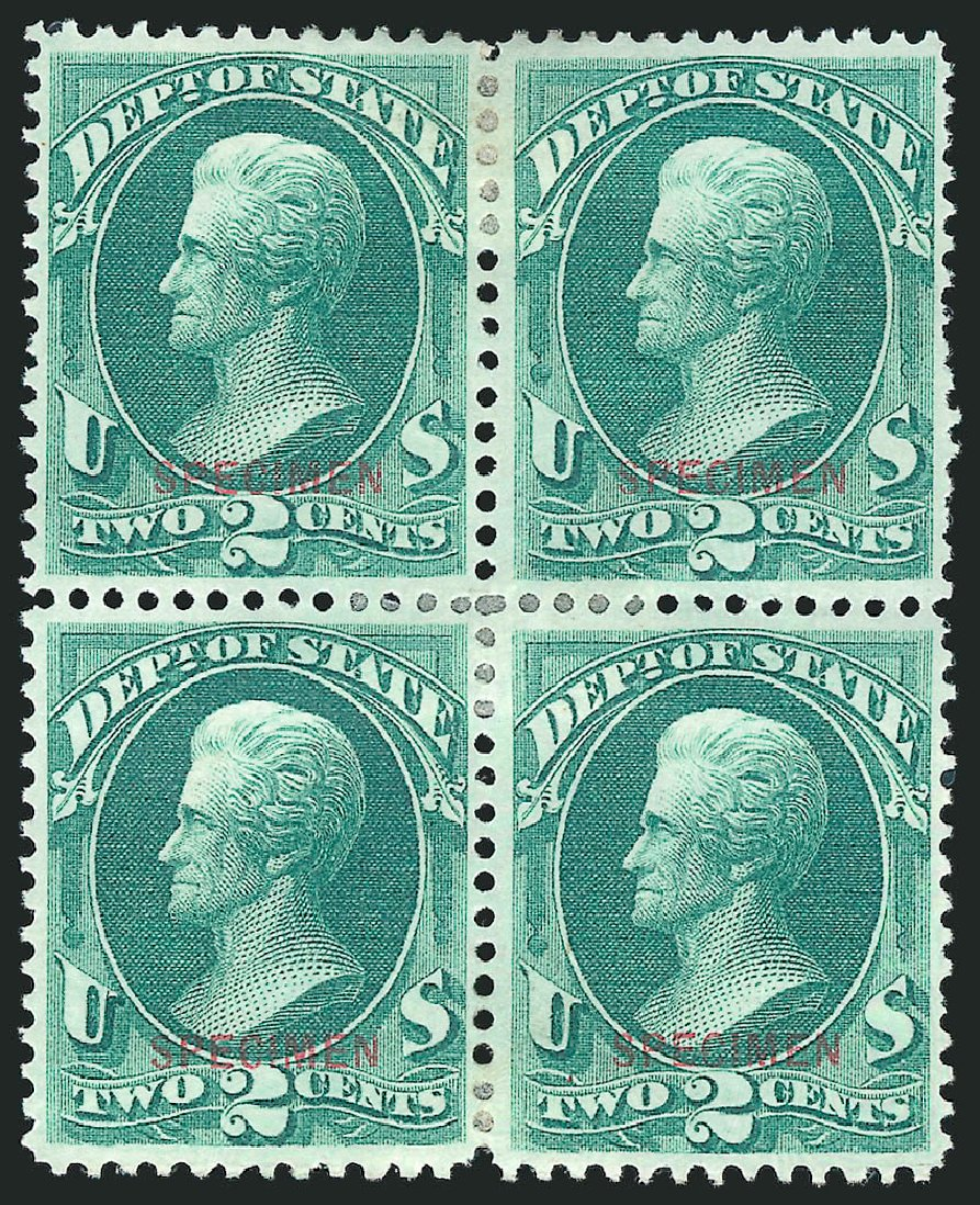 Cost of US Stamp Scott O58 - 1873 2c State Official. Robert Siegel Auction Galleries, Mar 2015, Sale 1095, Lot 617
