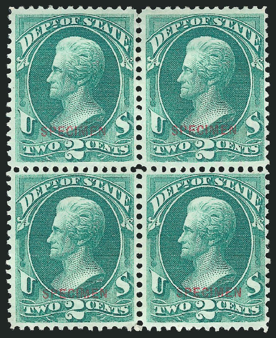 Cost of US Stamps Scott Catalogue #O58: 2c 1873 State Official. Robert Siegel Auction Galleries, Mar 2015, Sale 1095, Lot 618