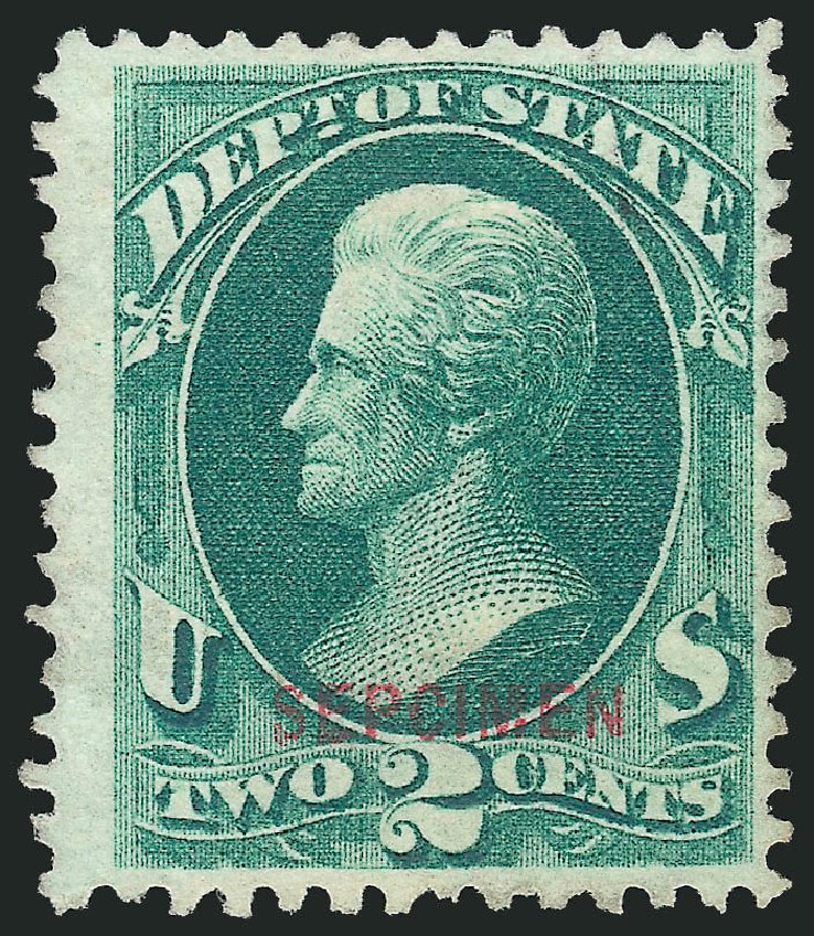 US Stamps Values Scott Catalog #O58 - 2c 1873 State Official. Robert Siegel Auction Galleries, Mar 2015, Sale 1095, Lot 624