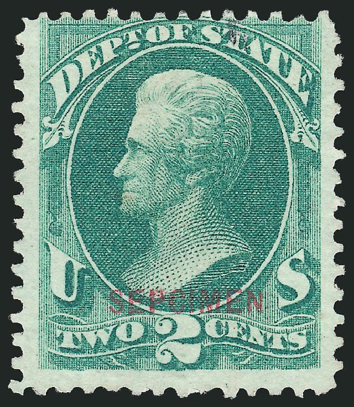 US Stamp Value Scott Catalog # O58: 1873 2c State Official. Robert Siegel Auction Galleries, Mar 2015, Sale 1095, Lot 625