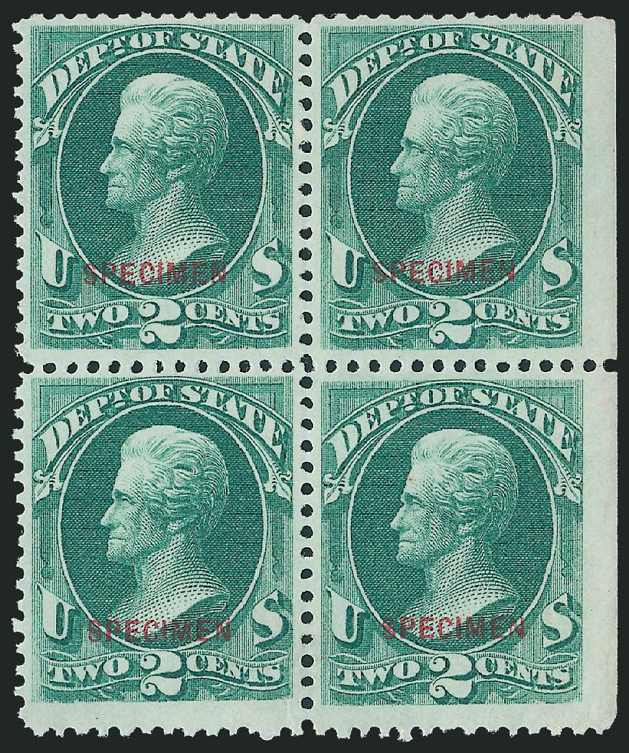 US Stamp Price Scott Catalog #O58: 1873 2c State Official. Robert Siegel Auction Galleries, Dec 2011, Sale 1017, Lot 992