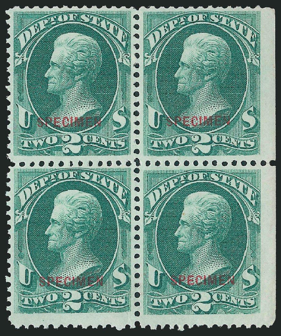 US Stamp Price Scott Catalog #O58: 1873 2c State Official. Robert Siegel Auction Galleries, Dec 2011, Sale 1017, Lot 992
