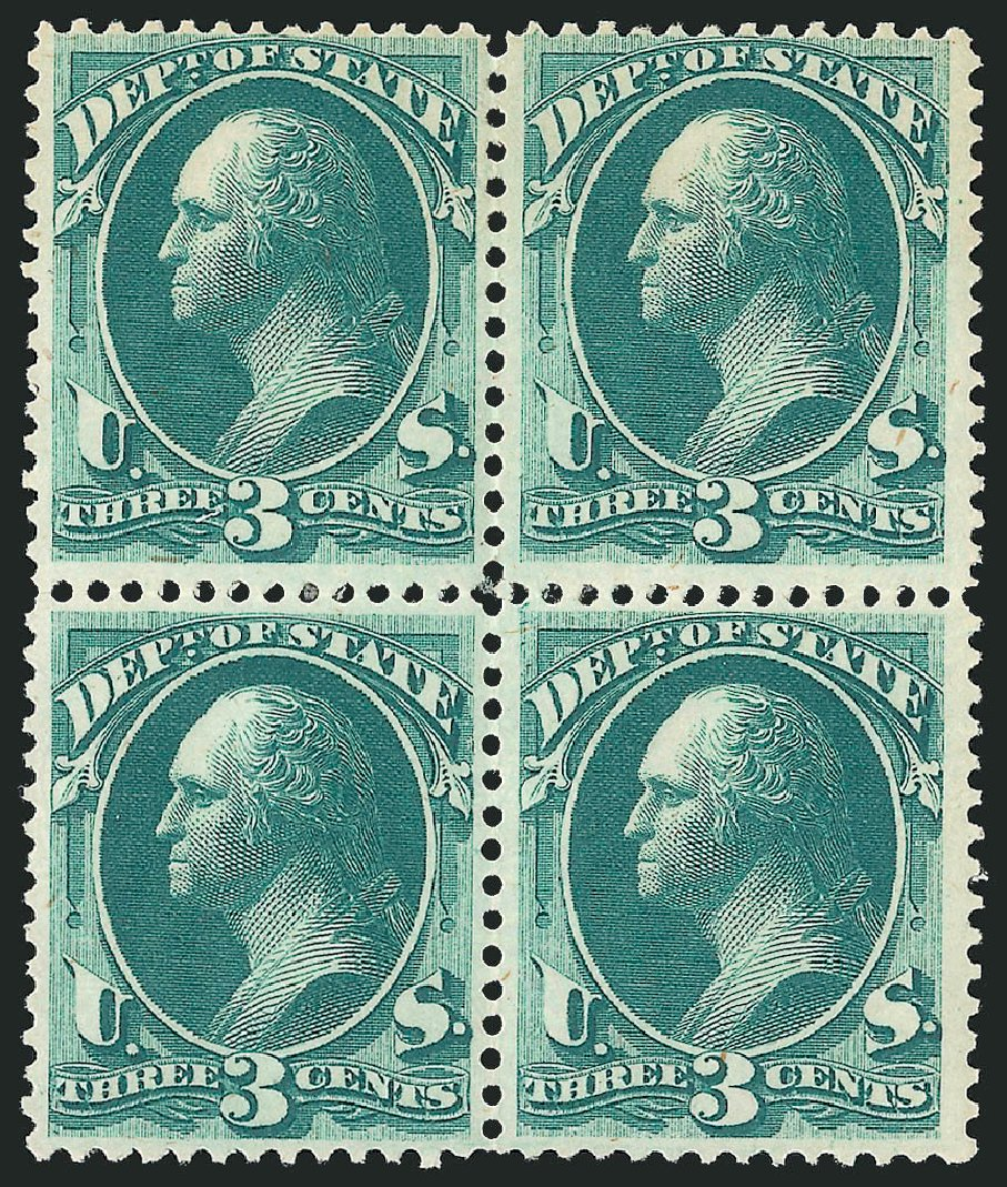 US Stamps Value Scott Catalogue O59 - 1873 3c State Official. Robert Siegel Auction Galleries, Nov 2014, Sale 1085, Lot 4090