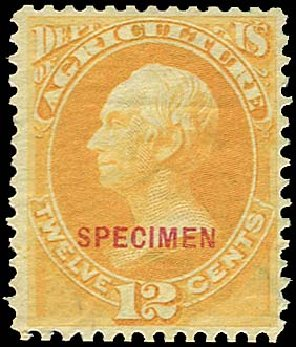 Prices of US Stamp Scott Catalog # O6 - 12c 1873 Agriculture Official. Regency-Superior, Jan 2015, Sale 109, Lot 1539