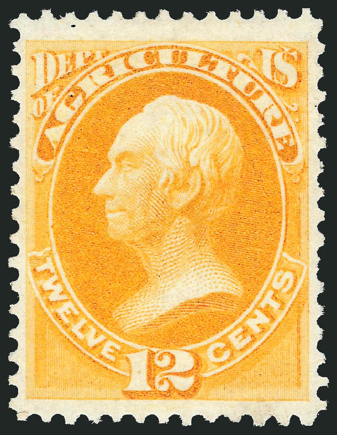 US Stamp Price Scott Catalogue # O6: 12c 1873 Agriculture Official. Robert Siegel Auction Galleries, Oct 2012, Sale 1033, Lot 4299