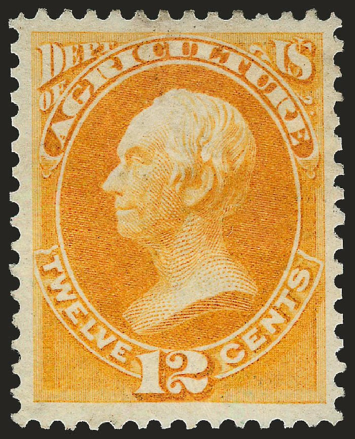 Costs of US Stamps Scott Catalog O6: 1873 12c Agriculture Official. Robert Siegel Auction Galleries, Apr 2010, Sale 984, Lot 1151